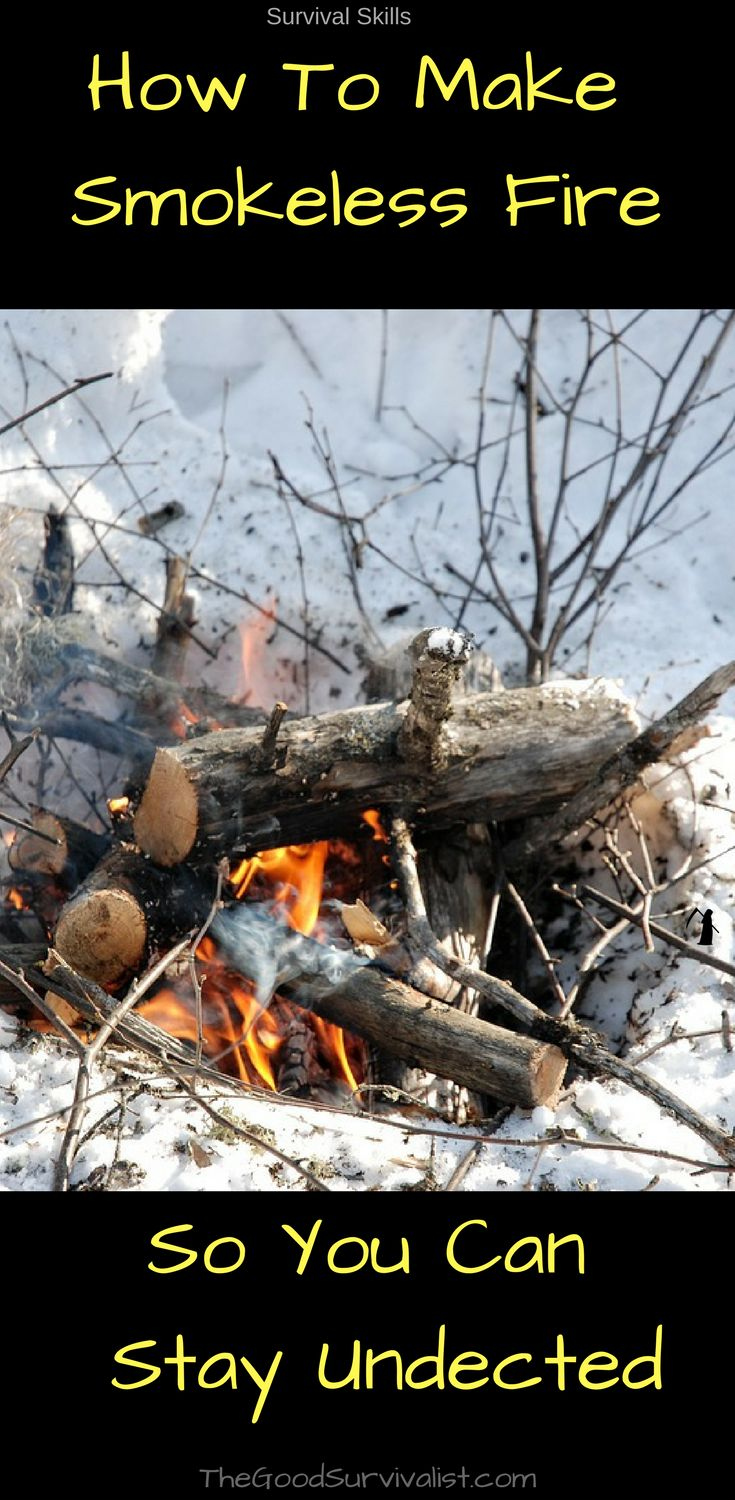 When building a smokeless stealth fire you will notice that there is a little bit of smoke as the fire starts but it quickly vanishes as the fire grows in strength. It will allow you to go completely undetected. #survivalskills #makefire