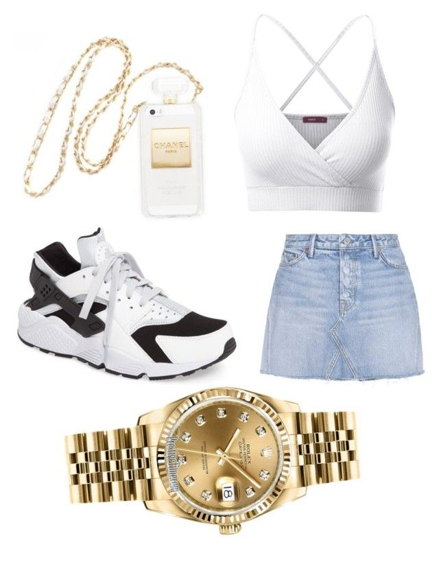 """""""Summer hurry up"""" by alanawedge59 on Polyvore featuring Doublju, NIKE, GRLFRND and Rolex"""