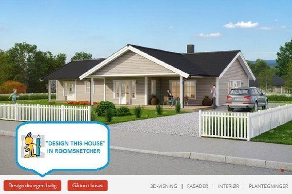 norwegian housing manufacturer overhalla hus uses integrated links to roomsketcher home. Black Bedroom Furniture Sets. Home Design Ideas
