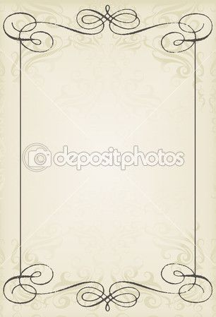 Vintage bruiloft frame vector achtergrond kaart voor poster — Stockillustratie #9071541
