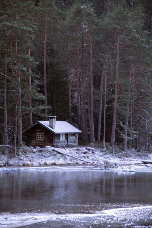 Log cabin in Norway; photo by Erling Sivertsen | www.facebook.com/aplaceinnature