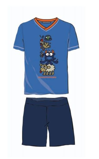 Para los peques de la casa. Pijama niño kukuxumusu modelo TRINKO. http://www.perfumeriaelajuar.com/homewear/pijamas-hombre-verano/36/