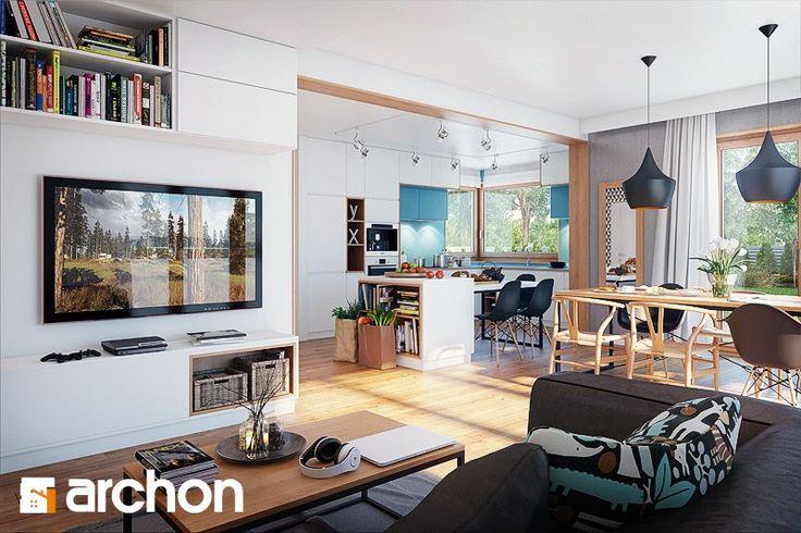 Dom w miłowonkach - zdjęcie od ARCHONhome - Salon - Styl Skandynawski - ARCHONhome