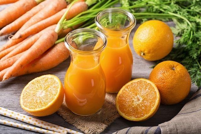Suco de cenoura para problemas de visão