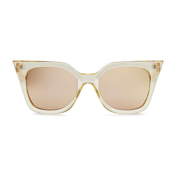 Quay Australia Quay Harper Sunglasses (€41) ❤ liked on Polyvore featuring accessories, eyewear, sunglasses, gold, gold sunglasses, quay eyewear, gold glasses and quay sunglasses