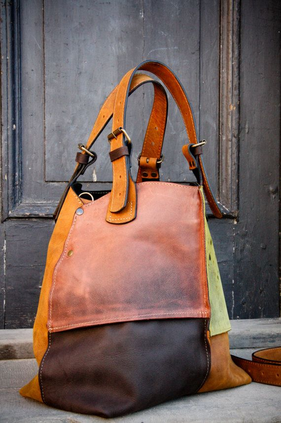 Oversized Bag ladybuq handmade leather tote bag