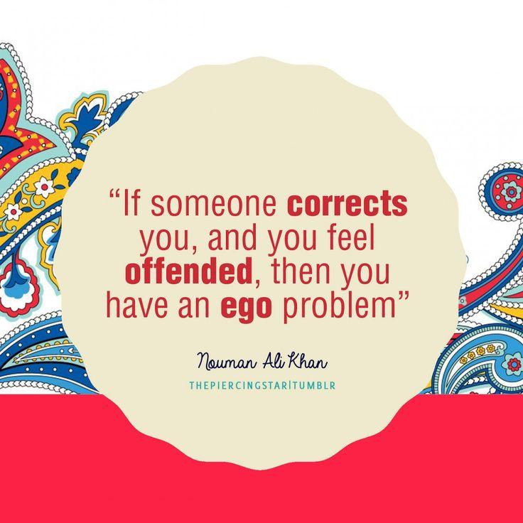 Nouman Ali Khan Quote: If someone corrects you …. - Islamic Quotes   IslamicArtDB.com