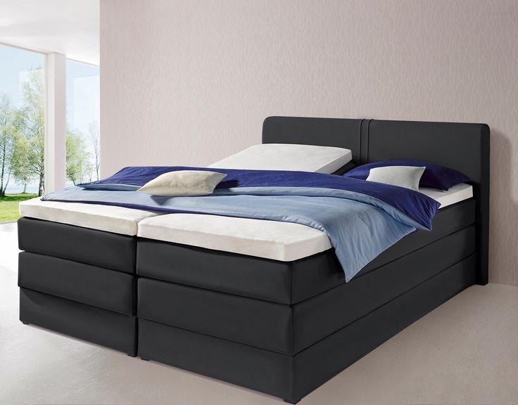 Die besten 25+ Boxspringbett schwarz Ideen auf Pinterest - schlafzimmer mit boxspringbetten schlafkultur und schlafkomfort