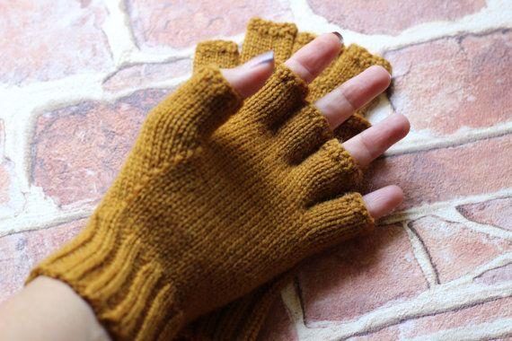 Men's Best winter gloves Fingerless half fingers wool by SityFox