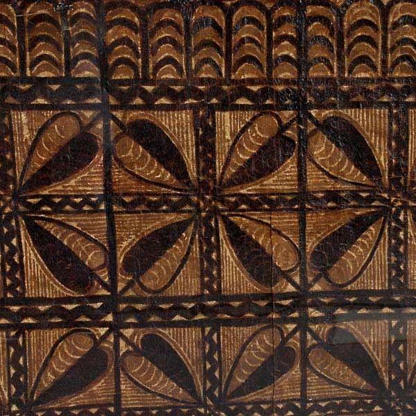 Two SAMOAN TAPA Cloths. Framed : Lot 1237