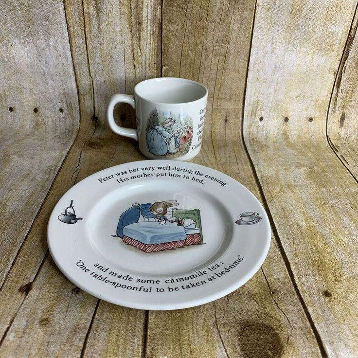 Wedgwood Peter Rabbit Childs Meal Set Plate X Mug England