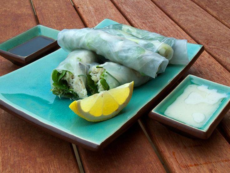 Sitron- og fiskesaus til myke vårruller