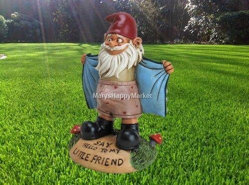 Gnome Sculpture Garden Troll Outdoor Funny Lawn Statues Patio Elf Decor Figure