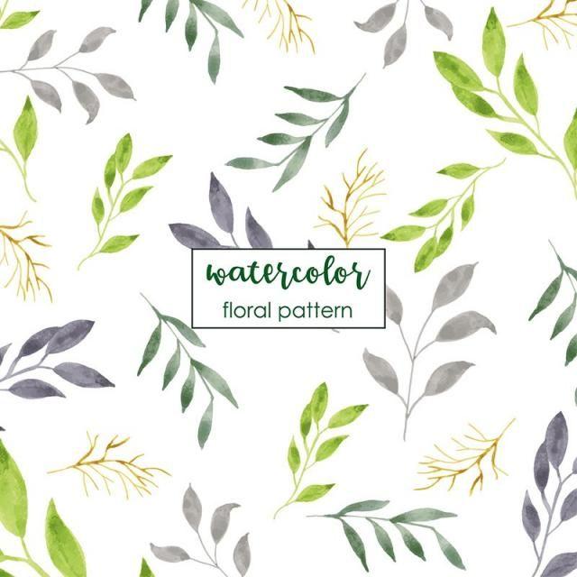 Watercolor Floral Pattern Design Watercolor Vector Watercolor