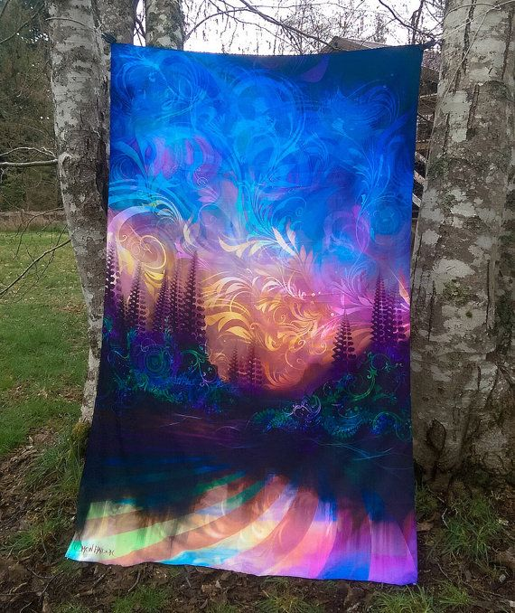 Third Eye Tapestries  Size 60 by 90 inches  www.ThirdEyeTapestries.com  wall hanging - trippy tapestry - psychedelic tapestry - hippie tapestry