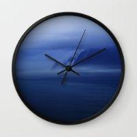 Smooth Surf Blues Wall Clock