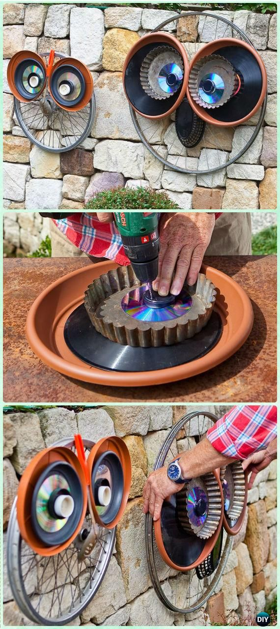 DIY Bicycle Wheel Owl Instruction - DIY Ways to Recycle Bike Rims