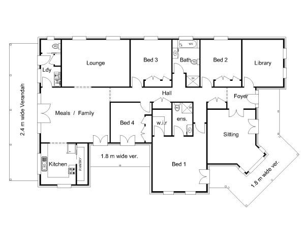 Hawkesbury Valley Homes Brisbane Floor Plan