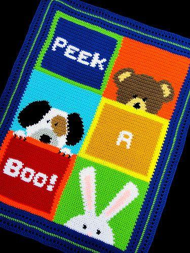 Crochet Patterns Peek A Boo Color Graph Scrap Yarn Baby Afghan Pattern Easy | eBay