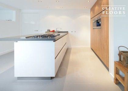 Gietvloer keuken van creativefloors gietvloeren