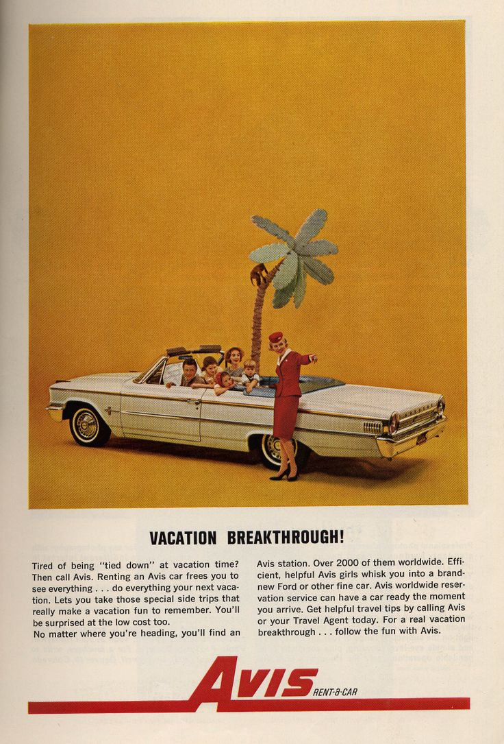 Avis Rent a Car System. The Best Resource on the Net of Vintage Ads! : ford rent a car system - markmcfarlin.com
