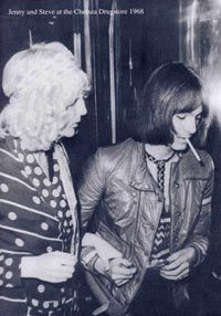 Steve Marriott and Jenny Rylance going into Chelsea Drugstore - 1968. Small Faces