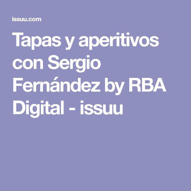 Tapas y aperitivos con Sergio Fernández by RBA Digital - issuu