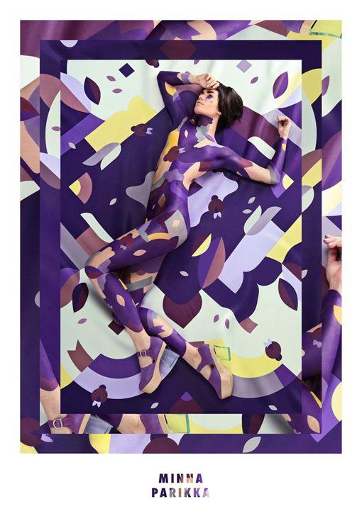 Campaña para zapatos Minna Parikka. Ilustraciones y Dirección de Arte Janine Rewell. Body paint Saara Sarvas y Rilna Laine. Fotografías Jonas Lundquist.