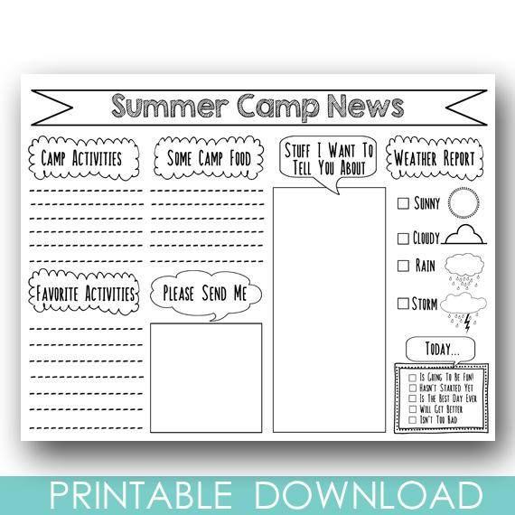 PRINTABLE Camp Stationary DIY Summer Camp Stationery Letter #printable #camplife #forthekids #ad