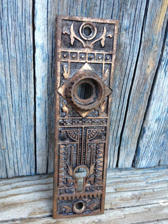 One Antique Door Plate Escutcheon   Antique Door Hardware   Art Deco, Art  Nouveau