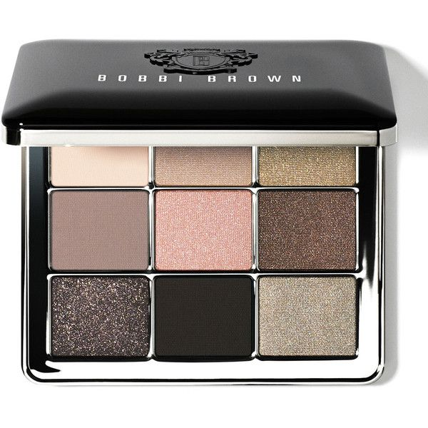 Bobbi Brown Sterling Nights Eye Palette ($75) ❤ liked on Polyvore featuring beauty products, makeup, eye makeup, eyeshadow, beauty, sparkle eye shadow, matte eyeshadow, matte palette eyeshadow, eyeshadow brush and shadow brush