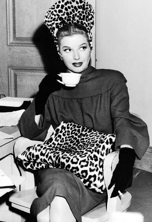 Ann Sheridan on the set of Nora Prentiss, 1947.
