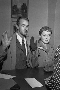 Bette Davis and 3rd husband artist William Grant Sherry