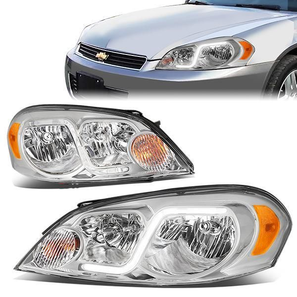 D Motoring 06 16 Chevy Monte Carlo Impala Impala Limited Headlights Led Drl Chrome Housing Clear Lens Amber Corner P Chevy Impala Impala Headlights