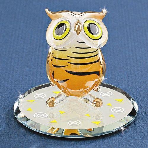 Glass Baron Hoot Owl Glass Figurine