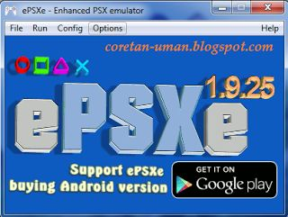 Download emulator epsxe 1.9.25 + Bios + Plugins + MemoryCard | Coretan Uman