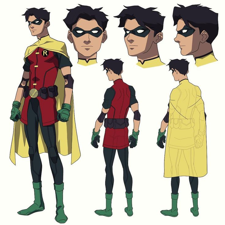 "(@philbourassa) on Instagram: ""A riff on Dick Grayson in the classic Robin outfit for a flashback sequence in…"""