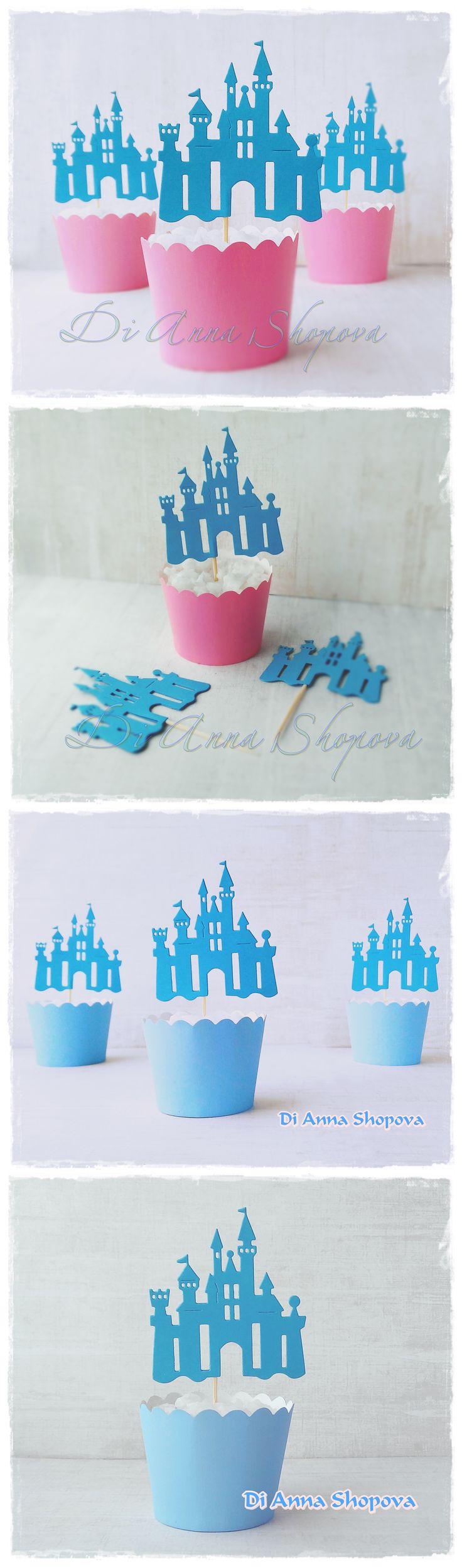 castle cupcakes ile ilgili pinterest'teki en iyi 25'den fazla fikir
