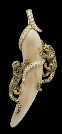 Pendant Edition5 18kt Yellow Gold 86cts Diamonds Woolly