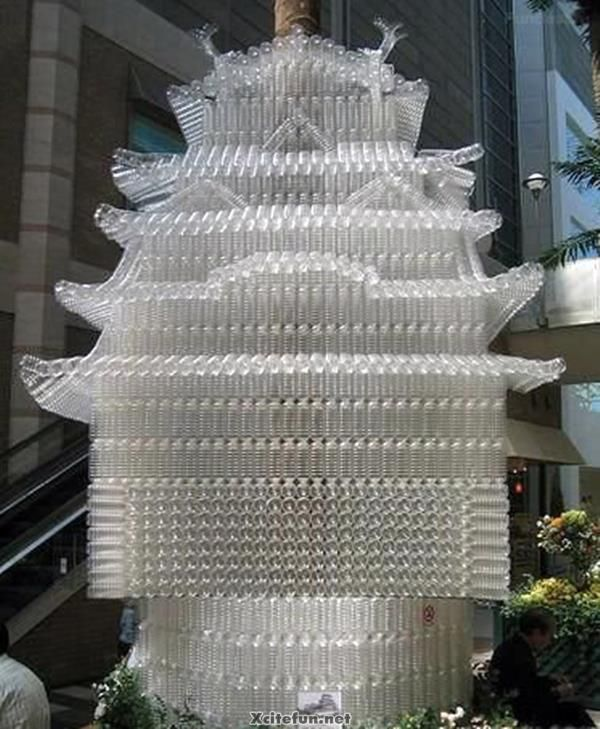 Sculpture Made by Plastic Bottles