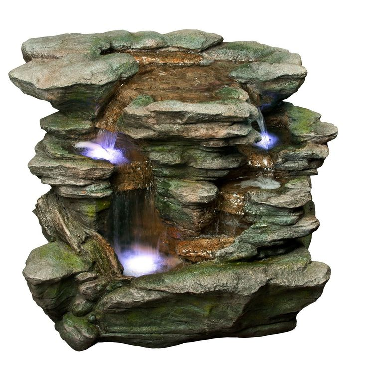 Alpine Polyresin Waterfall with White LED Light Outdoor Fountain55 best small fountains images on Pinterest   Small fountains  . Indoor Bedroom Water Fountain. Home Design Ideas