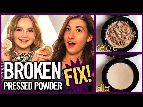 how to fix broken powder highlighter