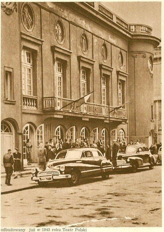 ul. Kazimierza Karasia - Teatr Polski, II połowa lat 40. (Warszawa Stolica Polski, Społeczny Fundusz Odbudowy Stolicy, 1949)