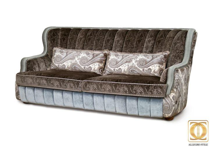 Коллекция итальянской мебели VIA MAESTRI от ALLEGRO-STYLE: серия Франческо ( диван)