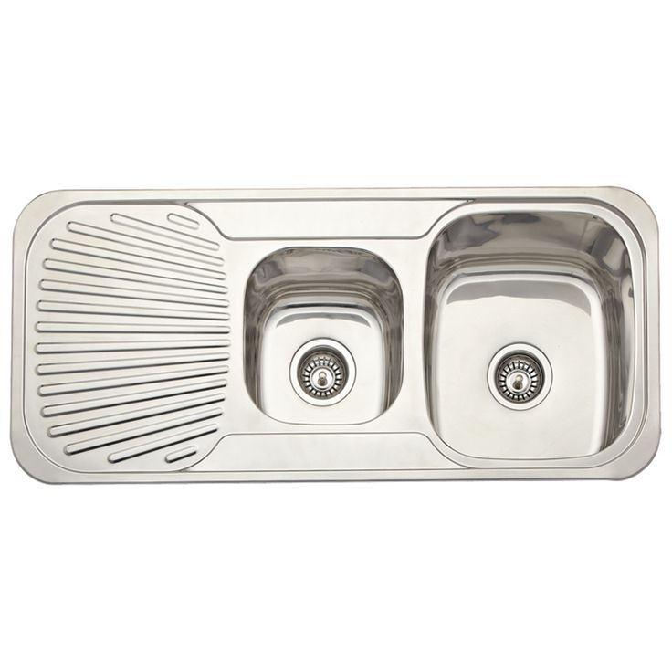 Estilo 1080 x 480 x 180mm Right Hand Double Bowl Stainless Steel $149 Sink