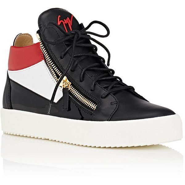 Giuseppe Zanotti Men's Double-Zip Colorblocked Leather Sneakers ($795) ❤ liked on Polyvore featuring men's fashion, men's shoes, men's sneakers, mens leather sneakers, mens leather shoes, mens sneakers, mens leather lace up shoes and mens shoes