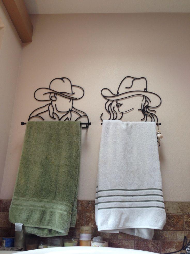 Cowboy & Cowgirl Towel Racks