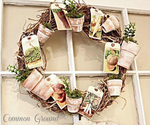 Common Ground flower pot wreath