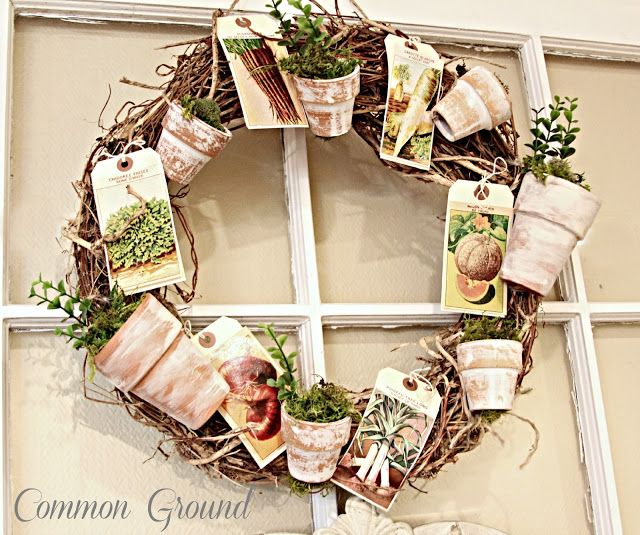 Common Ground flower pot wreath