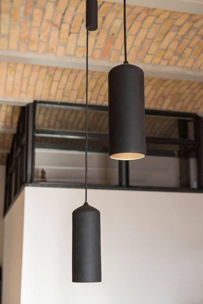 STUDIO WM porcelain black lamp photographer: Stefan Wolf Lucks architect/designer: studio karhard